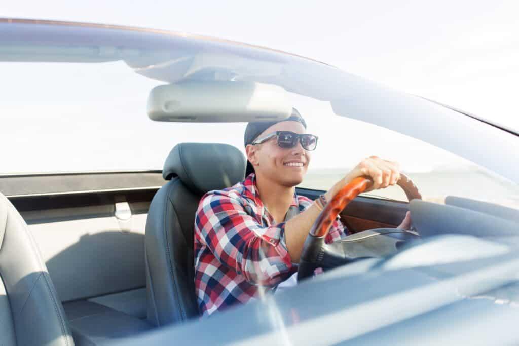 Happy Person In Car